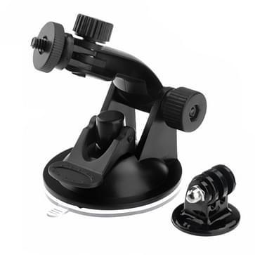 GoPro Zuignap Houder + Statief Adapter voor GoPro HERO (2018) 7 / 6 / 5 / 4 / 3+ / 3 / 2 / 1 (ST-61) (zwart)