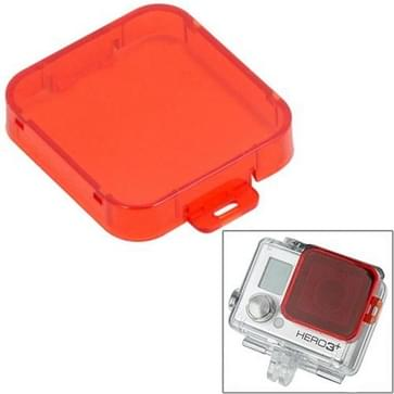 Snap-on duik filterhuis voor HD GoPro Hero 4 / 3 + ST-132(Red)