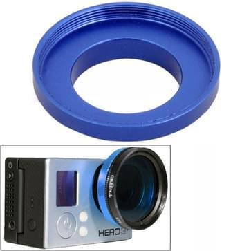37mm Aluminium Alloy UV Lens Filter Ring Adapter voor HERO 4/5 SESSION / (2018) 7 / 6 / 5 / 4 / 3+ / 3 / 2 / 1, ST-122(blauw)