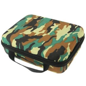 Camouflage patroon EVA Schokbestendig Waterdicht Draagbare hoes / case voor GoPro HERO (2018) 7 / 6 / 5 / 4 / 3+ / 3 / 2 / 1, Formaat: 21cm x 16cm x 6,5 cm