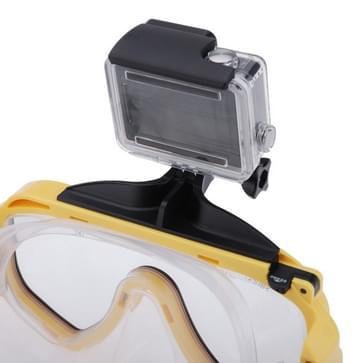 Watersport Scuba apparatuur duik masker zwembril met bevestiging voor GoPro HERO (2018) 7 / 6 / 5 / 4 / 3+ / 3 / 2 / 1(geel)