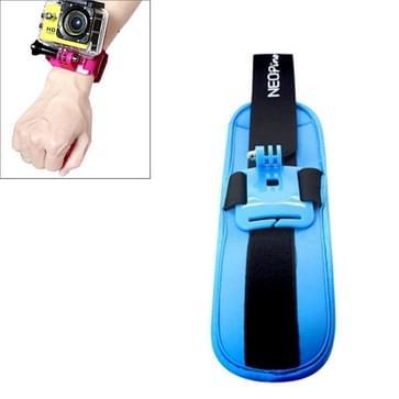 NEOpine Sport Duiken Polsriempje Houder Stabilisator 90 graden draaibaar voor GoPro HERO (2018) 7 / 6 / 5 / 4 / 3+ / 3 / 2 / 1 (blauw)