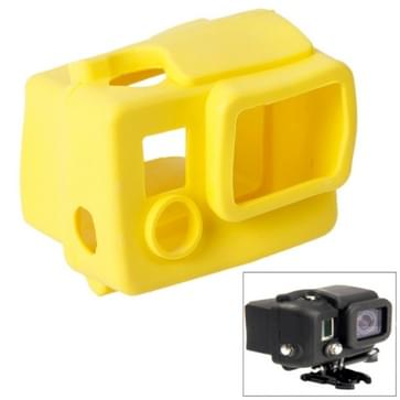 TMC siliconen hoes / case voor GoPro Hero 3+ (geel)