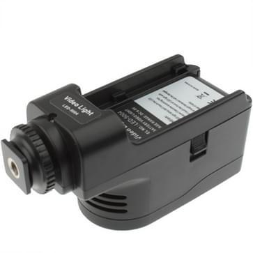 LED-5004 2 digitale led video licht met twee rang dimmen function met 6600mah lithium np-f970 batterij / accu(zwart)