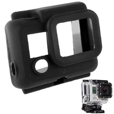 Beschermende siliconen hoes / case voor Gopro Hero 3 (zwart)