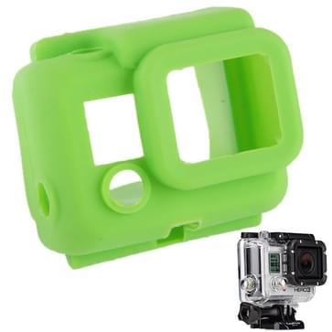 Beschermende siliconen hoes / case voor Gopro Hero 3 (groen)