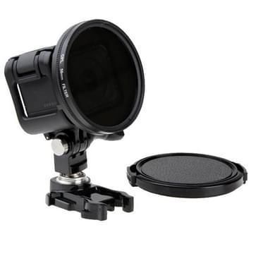 58mm Ronde cirkelvormige CPL Lens Filter met lensdop cap voor GoPro HERO4 Session