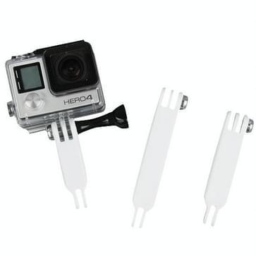 TMC 3 in 1 Nylon Extension Arm Set voor GoPro HERO (2018) 7 / 6 / 5 / 4 / 3+ / 3 / 2 / 1 (((wit)))