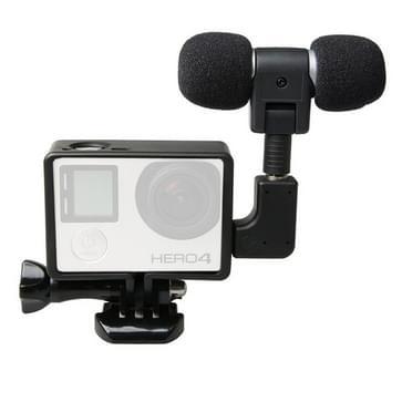 Tie-Clip Mini microfoon voor HERO 4/5 SESSION / (2018) 7 / 6 / 5 / 4 / 3+ / 3 / 2 / 1 Camera