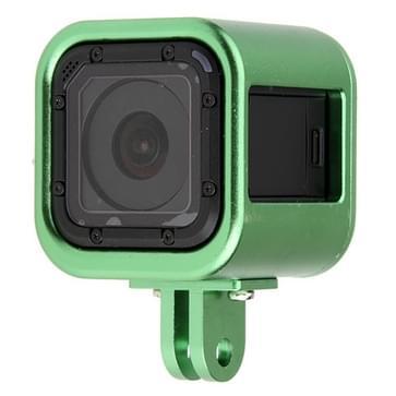 CNC Aluminium Alloy beschermings behuizing omhulsel met beschermende back cover voor GoPro HERO4 Session(groen)