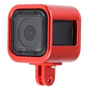 CNC Aluminium Alloy beschermings behuizing omhulsel met beschermende back cover voor GoPro HERO4 Session(rood)