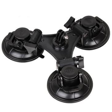Driepoot zuignap met houder aan Zeshoekige schroevendraaier voor GoPro HERO (2018) 7 / 6 / 5 / 4 / 3+ / 3 / 2 / 1 (zwart)