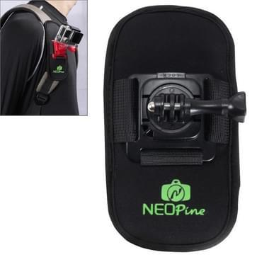 NEOPine Trendy veiligheidsgordel / schoudergordel met 360 graden draaiende houder voor GoPro HERO (2018) 7 / 6 / 5 / 4 / 3+ / 3 / 2 / 1,Xiaomi Yi,SJCAM SJ6000 / SJ5000 / SJ5000 WIFI / SJ4000 Sport Camera (zwart)