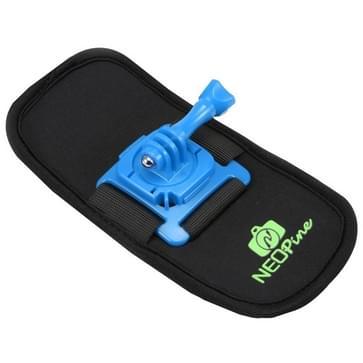 NEOPine Trendy veiligheidsgordel / schoudergordel met 360 graden draaiende houder voor GoPro HERO (2018) 7 / 6 / 5 / 4 / 3+ / 3 / 2 / 1,Xiaomi Yi,SJCAM SJ6000 / SJ5000 / SJ5000 WIFI / SJ4000 Sport Camera (blauw)