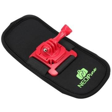 NEOPine Trendy veiligheidsgordel / schoudergordel met 360 graden draaiende houder voor GoPro HERO (2018) 7 / 6 / 5 / 4 / 3+ / 3 / 2 / 1,Xiaomi Yi,SJCAM SJ6000 / SJ5000 / SJ5000 WIFI / SJ4000 Sport Camera (rood)