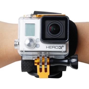 TMC Wrist Mount Clip Belt voor GoPro Hero 4 / 3+, Belt Length: 31cm, HR177(Goud)