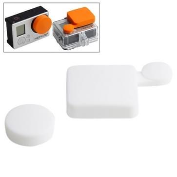 TMC siliconen Cover Set voor GoPro Hero 4 / 3 +(wit)