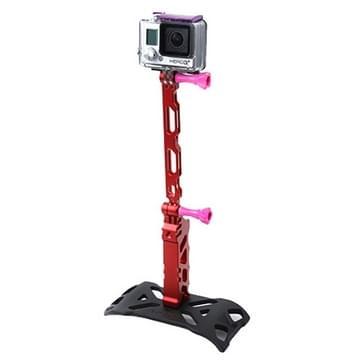 TMC Tactische Stijl Statief + Grip + uitschuif ingesteld voor GoPro HERO (2018) 7 / 6 / 5 / 4 / 3+ / 3 / 2 / 1, iPhone 5 / iPhone 4 / Samsung S4 (rood)