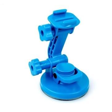 TMC Auto Zuignap Houder + Statief Adapter + Handgreep schroeven voor GoPro HERO (2018) 7 / 6 / 5 / 4 / 3+ / 3 / 2 / 1 (blauw)