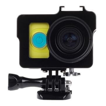 Metalen beschermings behuizing omhulsel met basis bevestiging + schroeven + UV Lens Filter voor Xiaoyi(zwart)