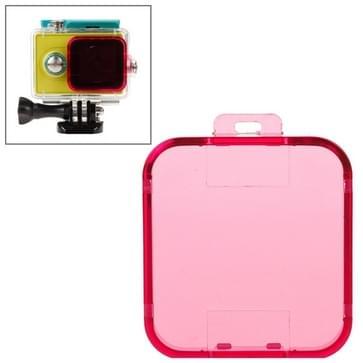 Snap-on duik filter behuizing voor Xiaomi Xiaoyi(hard roze)