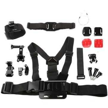 Dazzne 7 in 1 GoPro combi accessoire kit voor HERO 4/5 SESSION / (2018) 7 / 6 / 5 / 4 / 3+ / 3 / 2 / 1 / 2 (KT-115)