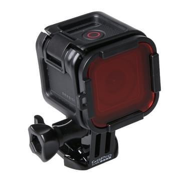 Standaard behuizing scuba duiken accessoire filter voor de GoPro HERO4 Session(rood)