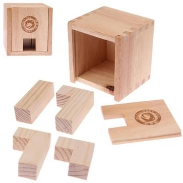 Intelligence Wooden Box Shaped IQ Puzzle Magic Cube Toy