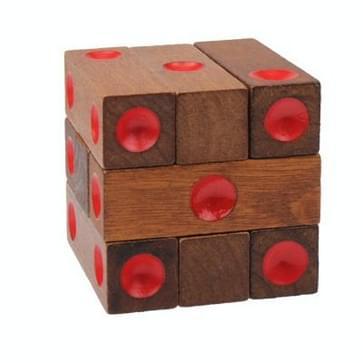 Educatief houten dobbelstenen Pile-up puzzel baksteen speelgoed