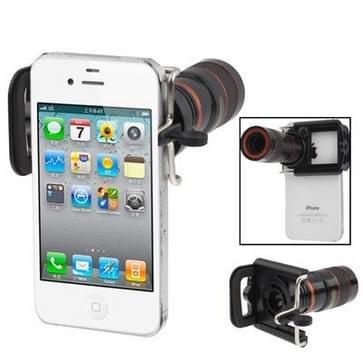 universeel 8 X F1.1 gezoem optische digitale Camera telescoop met gecorrigeerde houder voor iPhone 4 & 4S / onder 7cm breed mobiele telefoons(zwart)