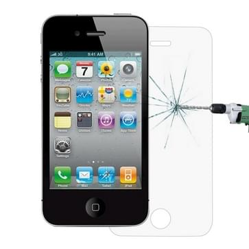 0,26 mm 9H oppervlakte hardheid 2.5D Explosieveilig Tempered glas scherm Film voor iPhone 4 & 4S