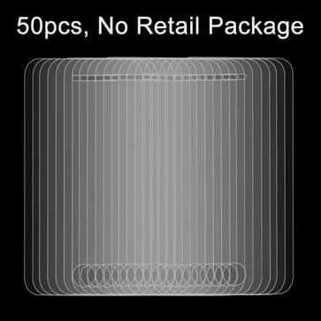 50 stuks voor iPhone 4 & 4S 0,26 mm 9H oppervlakte hardheid 2.5D explosieveilige getemperd glas Film, No retailpakket
