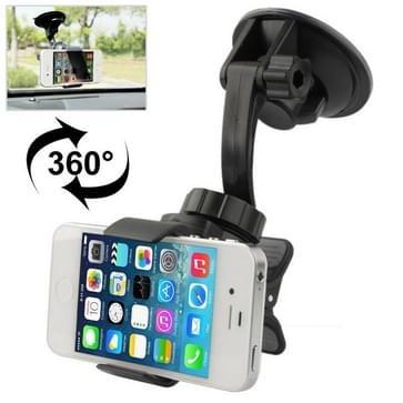 Auto universeel houder voor iPhone 4 & 4S / andere mobiele telefoon / PSP / PAD / MP4, steun 360 graden draaiend