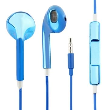 Stereo Plating EarPods Koptelefoons met Volume control nl Mic voor iPhone 6 / 6S & 6 Plus / 6S Plus, 5 & 5S & 5 C, 4 & 4S, iPad / iPad mini(blauw)