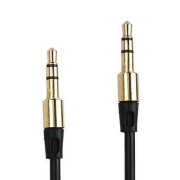 3.5mm Koptelefoon Audiokabel voor iPhone / iPad / iPod / MP3, Kabel lengte: 1 meter (zwart)
