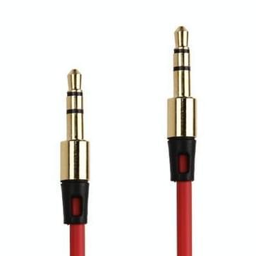 3.5mm Koptelefoon Audiokabel voor iPhone / iPad / iPod / MP3, Kabel lengte: 1 meter (rood)