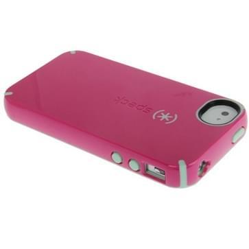 iPhone 4 & 4S beschermend Siliconen + kunststof back cover Hoesje (roze)