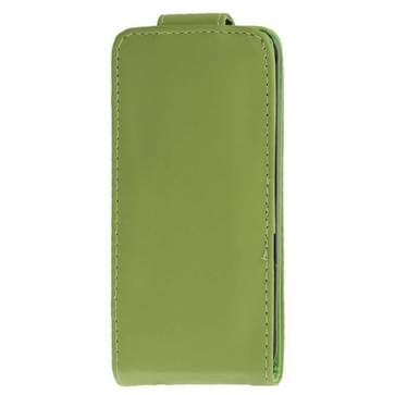 iPhone 5C vertikaal PU leren Flip Hoesje met opbergruimte voor pinpas (groen)