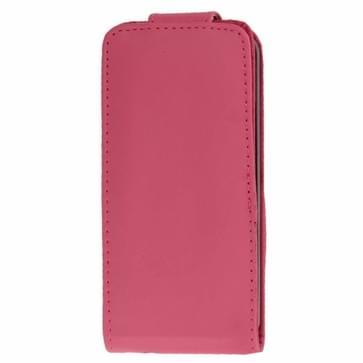 iPhone 5C vertikaal PU leren Flip Hoesje met opbergruimte voor pinpas (hard roze)