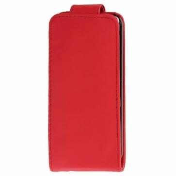 iPhone 5C vertikaal PU leren Flip Hoesje met opbergruimte voor pinpas (rood)