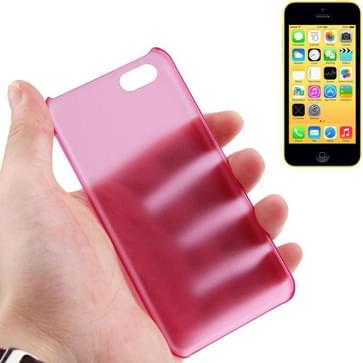iPhone 5C ultra-dun 0.5mm doorschijnend Kunststof back cover Hoesje (hard roze)