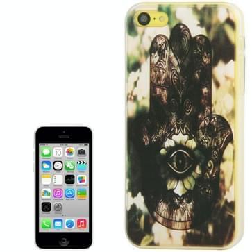 iPhone 5C Hamsa / oog van fatima patroon beschermend Kunststof QYG back cover Hoesje
