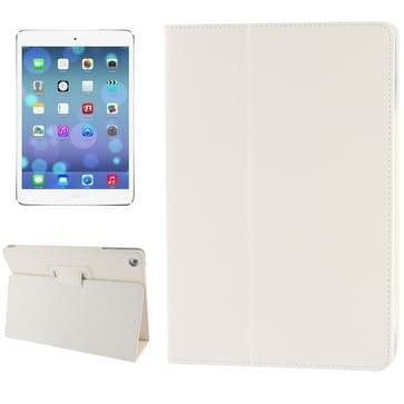Litchi structuur Flip lederen hoesje met houder voor iPad Air    wit
