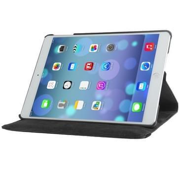 360 graden draaiend Litchi structuur lederen hoesje met 3 Gears houder & slaap / wekker functie voor iPad Air (zwart)