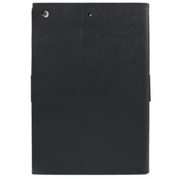 GOOSPERY FANCY DIARY for iPad Air Cross Texture Leather Case with Card Slot & Holder & Wallet(Black)