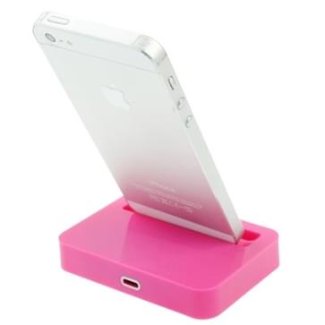 8 Pin laad Dock voor iPhone 5 / iPod touch 5 (hard roze)