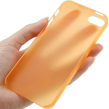 iPhone 5 & 5S ultra-dun 0.3mm beschermend Polycarbonaat back cover Hoesje (Oranje)