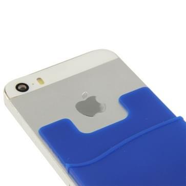 Smart portemonnee siliconen Card Pocket voor iPhone 6 & iPhone 6S / iPhone 5 & 5C & 5S / iPhone 4 & 4S  en voor All the mobiele telefoons(blauw)