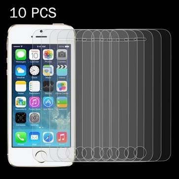 10 stuks voor iPhone SE & 5 & 5S & 5C 0,26 mm 9H oppervlakte hardheid 2.5D explosieveilige getemperd glas scherm Film