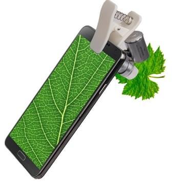 60 X Zoom digitale mobiele telefoon Microscoop Vergrootglas met LED licht & Clip voor Samsung Galaxy Note III / N9000 / i9500 / iPhone 5 & 5S & 5 C
